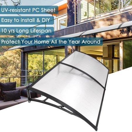 Yescom 79'x40' Window Awning Door Canopy Patio Cover Shelter 2 (Black Awning)