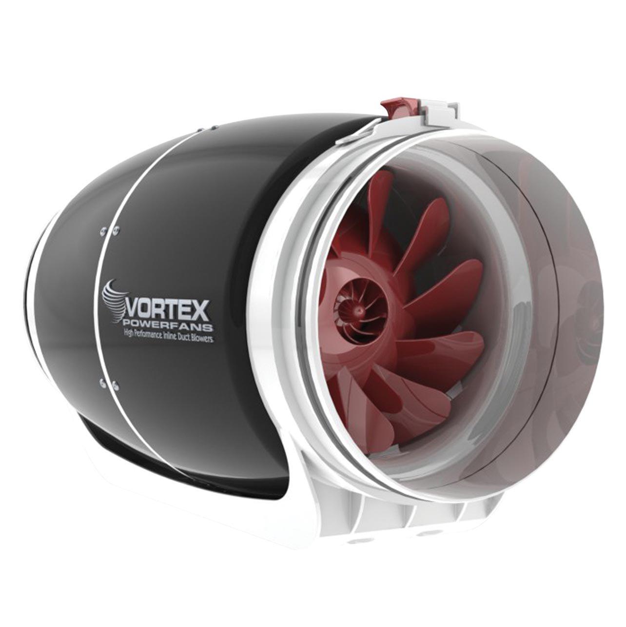 Vortex 8 Inch 728 CFM S Line Powerfan Inline Ventilation Duct Exhaust Blower Fan