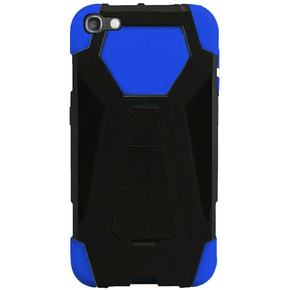 Idol 5 Case, by Insten Dual Layer [Shock Absorbing] Hybrid Stand Hard Plastic/Soft Silicone Case Cover For Idol 5, Black/Red - image 1 de 3