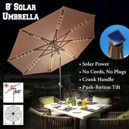Solar Lights For Patio Umbrellas Adorable Strong Camel 60ft Solar Light Patio Umbrella Tilt Aluminum Sunshade