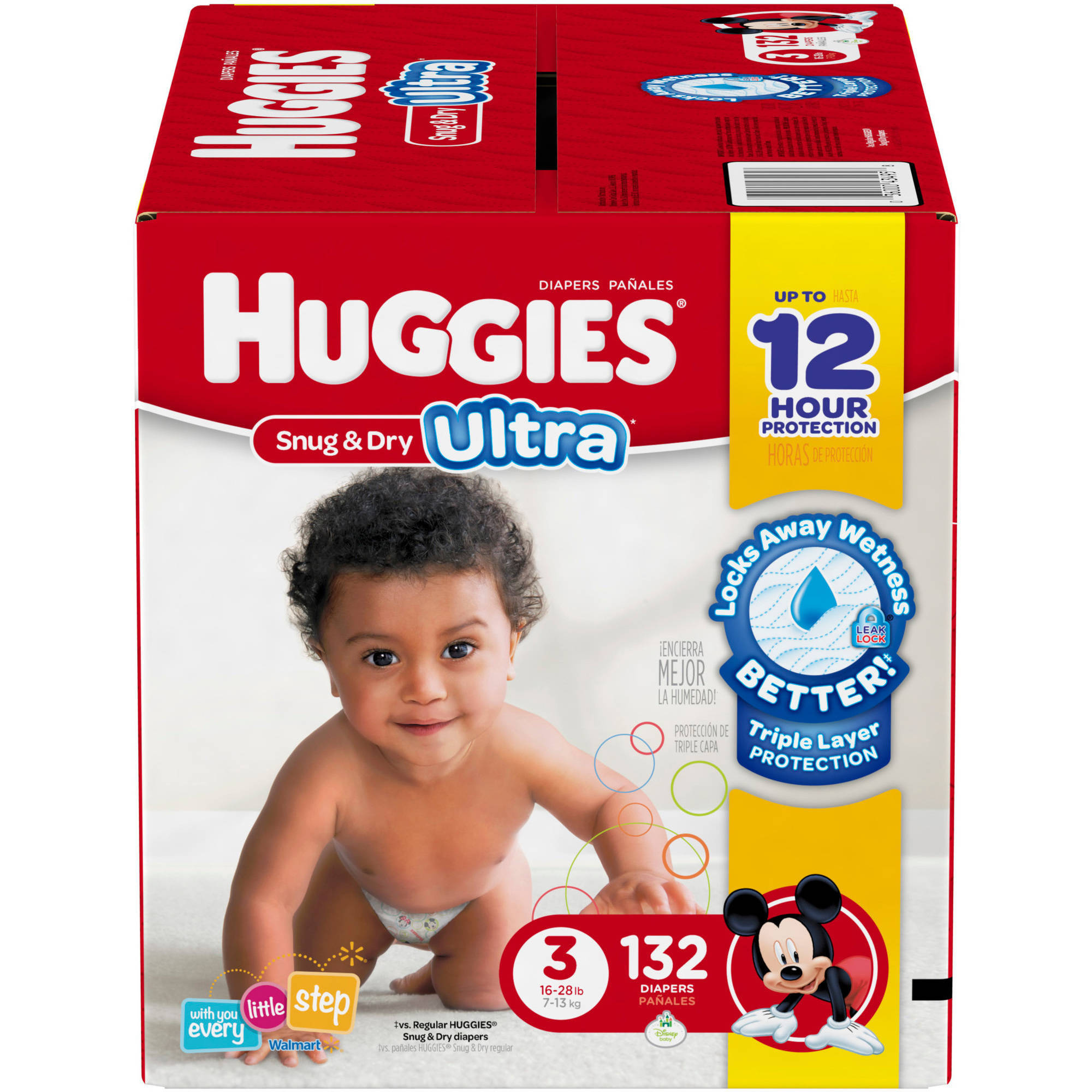 HUGGIES Snug & Dry ULTRA Diapers, Super Pack, (Choose Your Size)