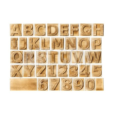 Wooden Alphabet Blocks With Letters And Numbers Print Wall Art By donatas1205