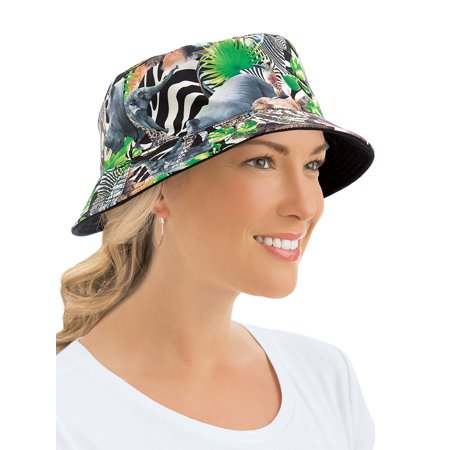 Women's Reversible Summer Bucket Sun Hat, Safari, Safari](Safari Hat Kids)