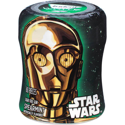 Trident White, Sugar Free Star Wars C-3PO Spearmint Gum, 60 Pc, 2.94 oz