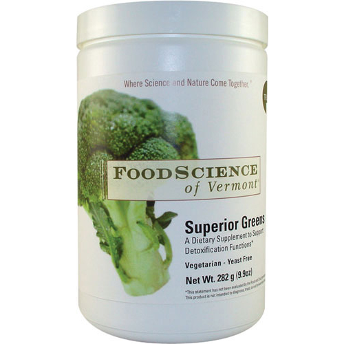 Foodscience Of Vermont Superior Greens Drink Mix Powder - 282 Grm