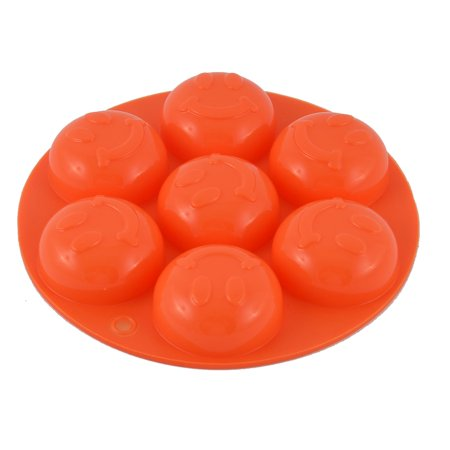 Silicone Smile Shaped Home Kitchen Bakeware Tray Mould Cake Mold Orange