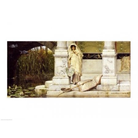 1 Fuser Oil - Roman Fisher Girl 1873 (oil on panel) Canvas Art - Sir Lawrence Alma-Tadema (36 x 24)