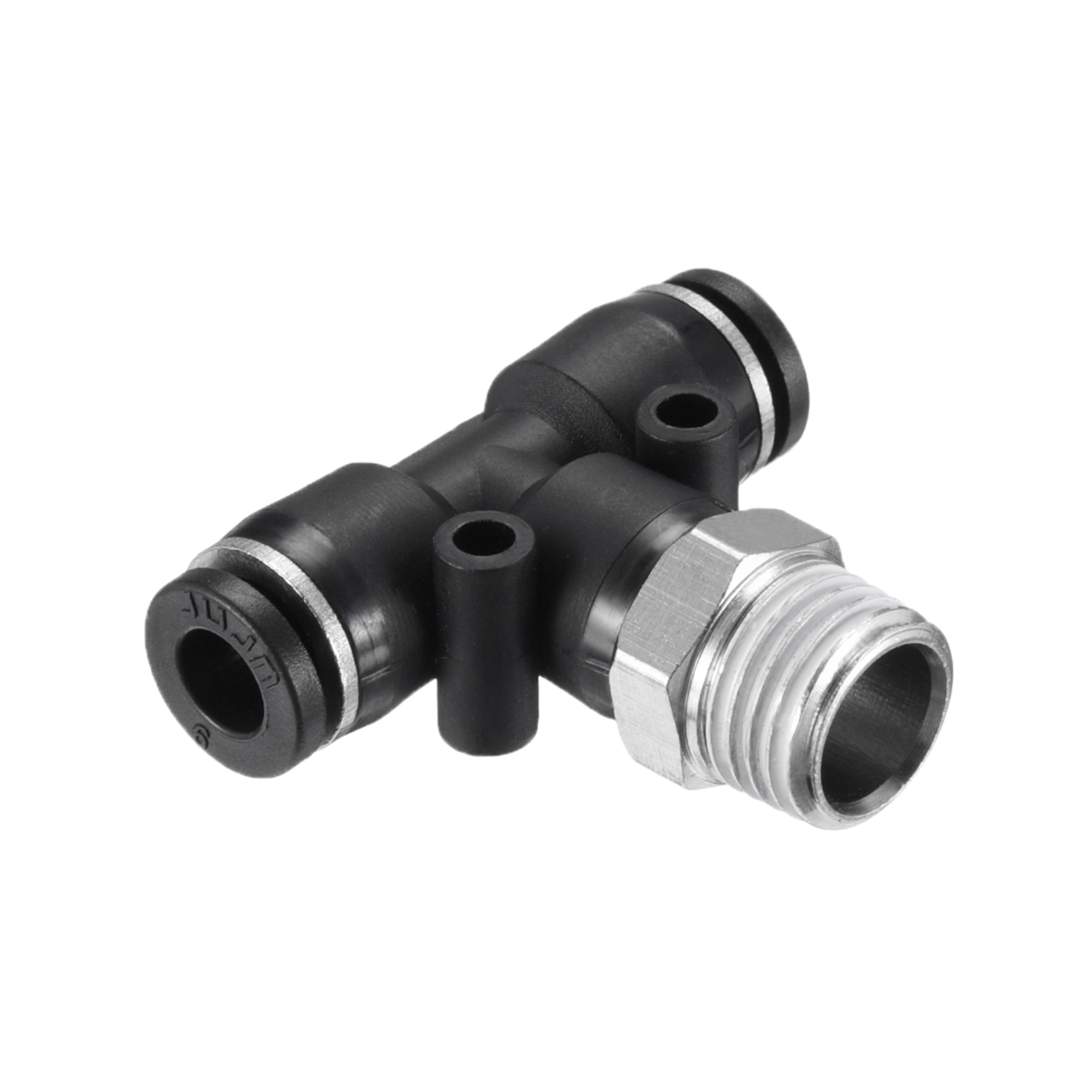 "Push To Connect Fittings T Type Thread Tee Tube Connect 15/64"" OD x 1/4"" G Male Thread Push Fit Fittings Tube Fittings P - image 4 de 4"