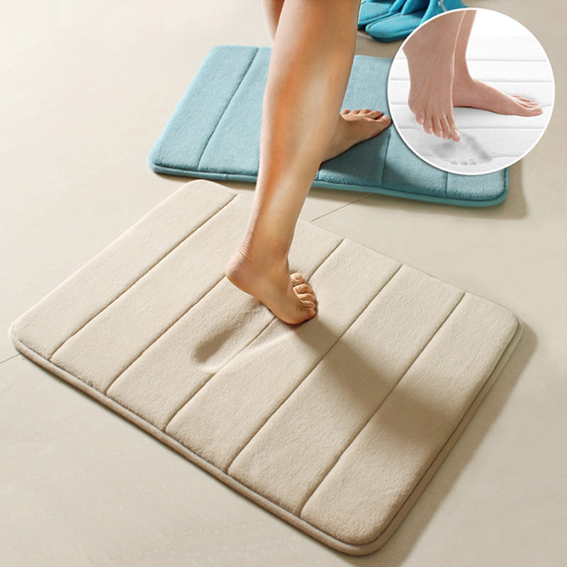 "20""x31"" Memory Foam Mat Slip-Resistant Rug Pad Bedroom Bathroom Shower Bath Mats Kitchen Dorm Doormat Carpet"