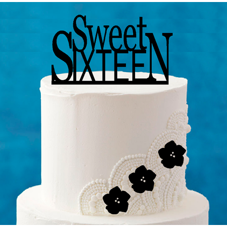 Sweet Sixteen 16th Birthday 5 X 4inch Number Elegant