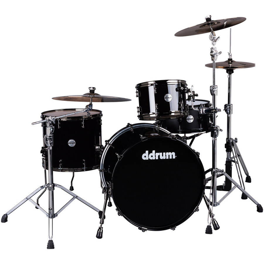 "ddrum MAX 24"" Bass Drum 3-Piece Shell Pack - Piano Black"