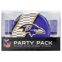 Baltimore Ravens Party Pack 80 Piece