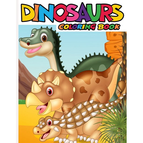 Dinosaur Coloring Book A Coloring Book Celebrating Our Old School Coworkers Gifts Paperback Walmart Com Walmart Com