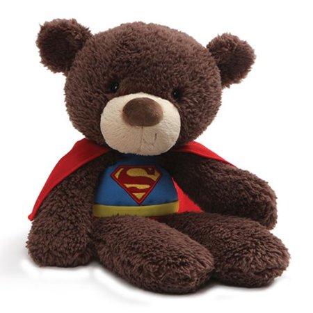 """Gund DC Universe Fuzzy Bear Superman Plush, 14"""" ,"""