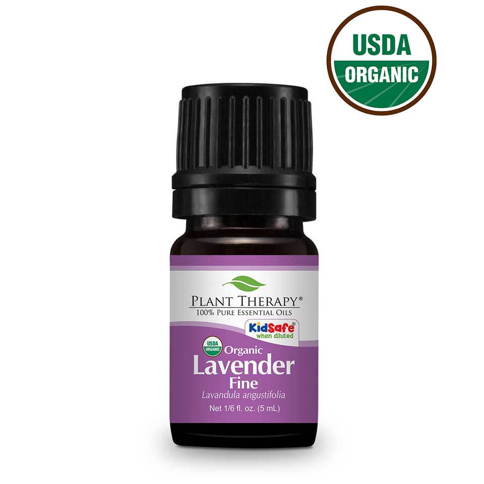 Plant Therapy Lavender Fine Organic Essential Oil 5 mL (1/6 fl. oz.) 100% Pure, Undiluted, Therapeutic Grade