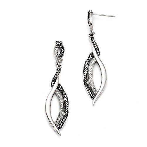 Chisel Stainless Steel Dangle Earrings SRE707