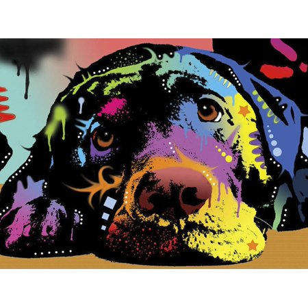 Lying Lab Pop Art Dog Painting Print Wall Art By Dean Russo