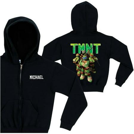 Personalized Teenage Mutant Ninja Turtles Group Back Toddler Zip-Up Hoodie