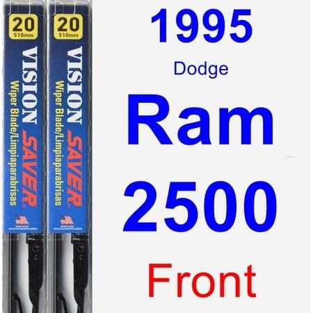 1995 Dodge Ram 2500 Wiper Blade Set/Kit (Front) (2 Blades) - Vision