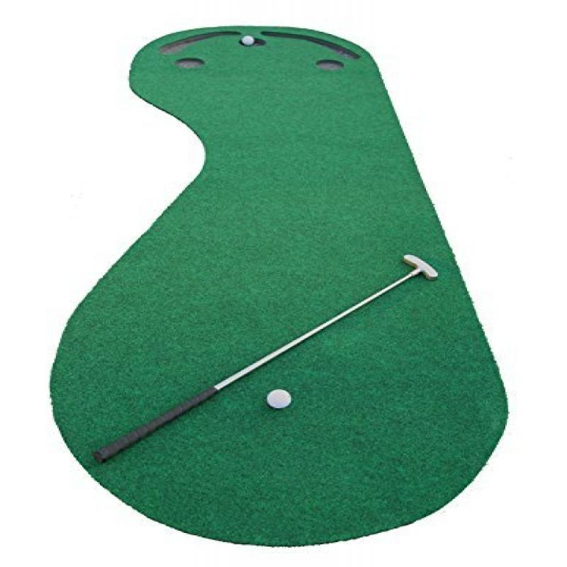 Indoor Golf Practice Cups Training Mat Putting Green Par Ball Home Office Floor