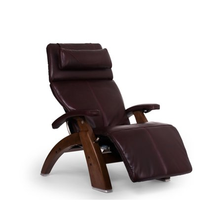 Human Touch Pc 600 Omni Motion Silhouette Perfect Chair Series 2 Power Recline Walnut Wood Base Zero Gravity Recliner   Burgundy Premium Leather