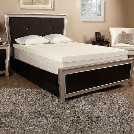 luxury solutions 4 39 39 memory foam mattress topper. Black Bedroom Furniture Sets. Home Design Ideas