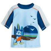 Mickey Mouse Rash Guard Boys 50+ UV Protection Toddler Size 2