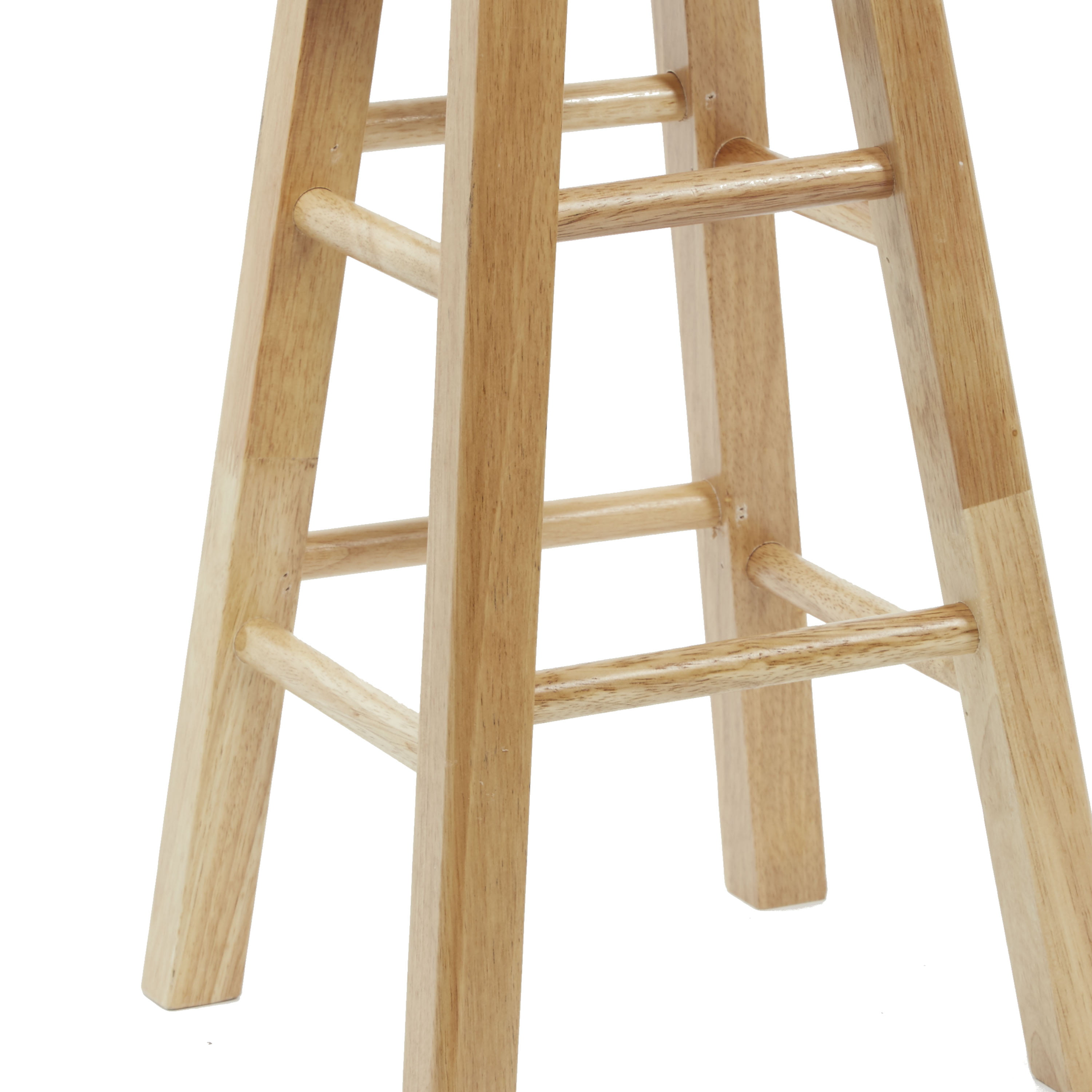 Mainstays Fully Assembled 24 Natural Wood Barstool Walmartcom