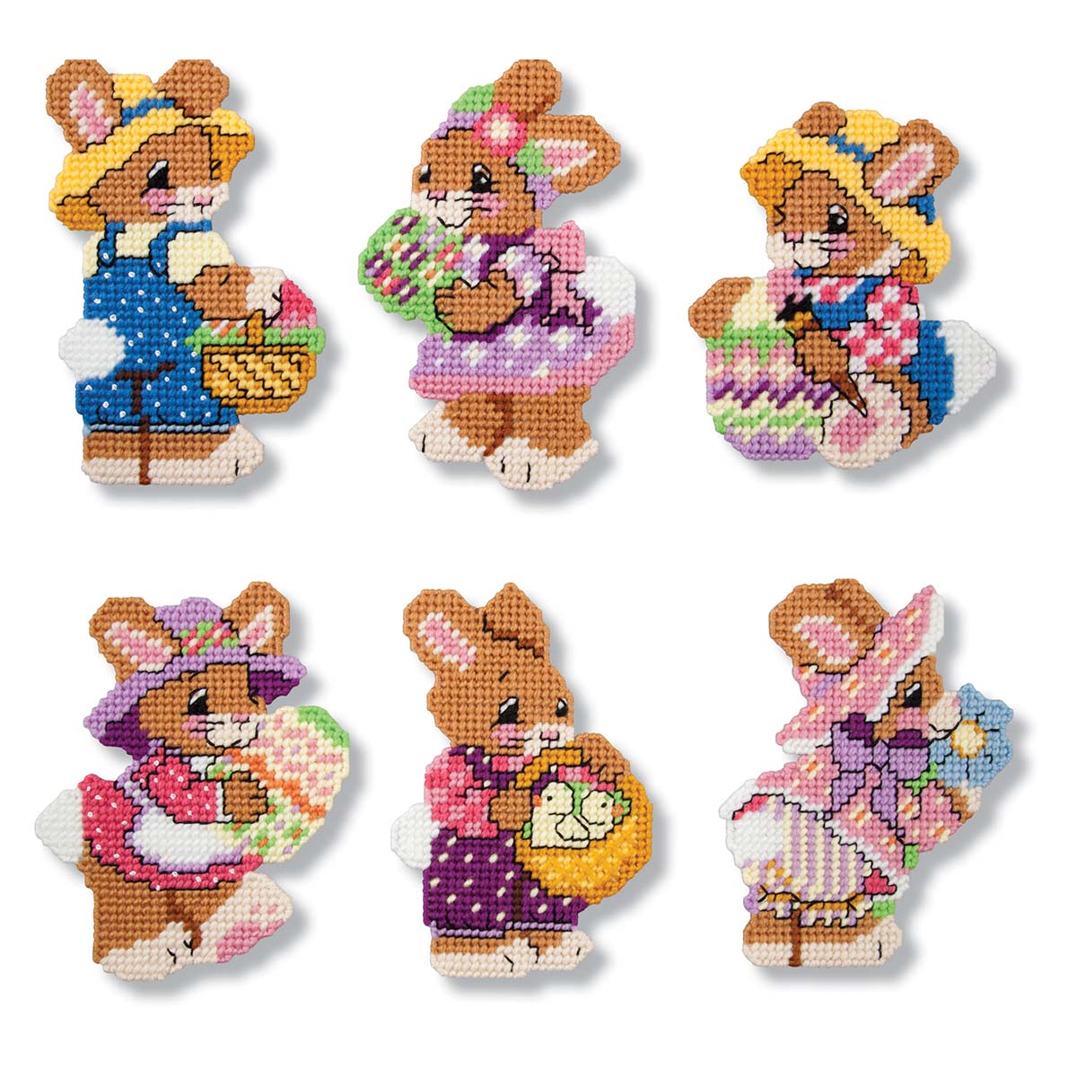 Herrschners® Bunny Tails Ornaments Plastic Canvas Kit