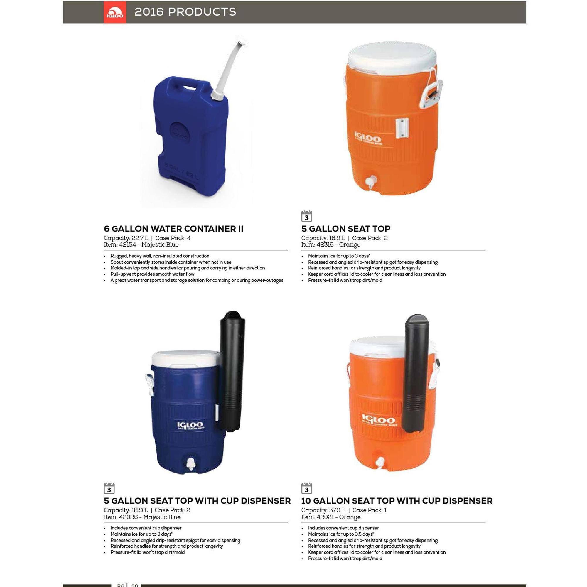 Igloo 5 Gallon Heavy Duty Beverage Cooler Orange Walmart