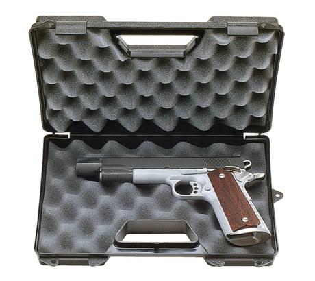 MTM Single Pistol Case, Black, for 6in Barrel Handguns