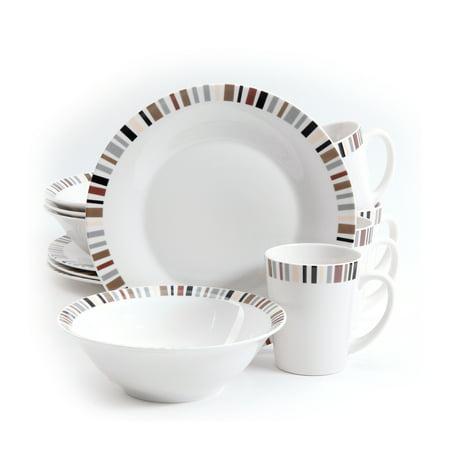 Gibson 12 Piece Lanvale Fine Ceramic Dinnerware Set For 4 (Ceramic Tableware)