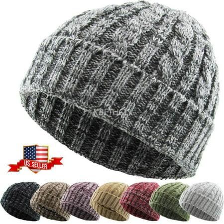 6d5e89e5ea791 KBETHOS - Cable Knit Beanie Ski Cap Skull Hat Warm Solid Winter Cuff New  Blank Heather - Walmart.com