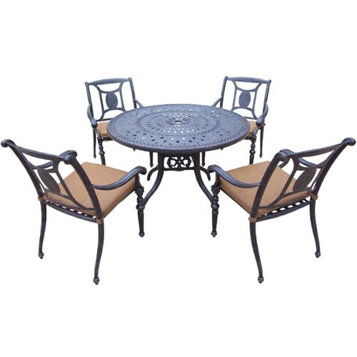 Oakland Living Corporation Oakland Living Sunbrella Aluminum 5-piece Dining Set