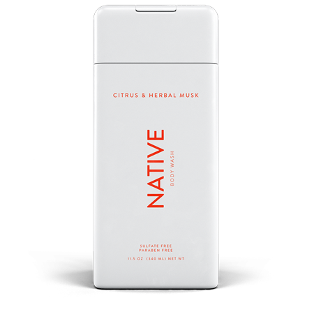 Native Citrus & Herbal Musk Body Wash 11.5oz Antioxidant Citrus Body Wash
