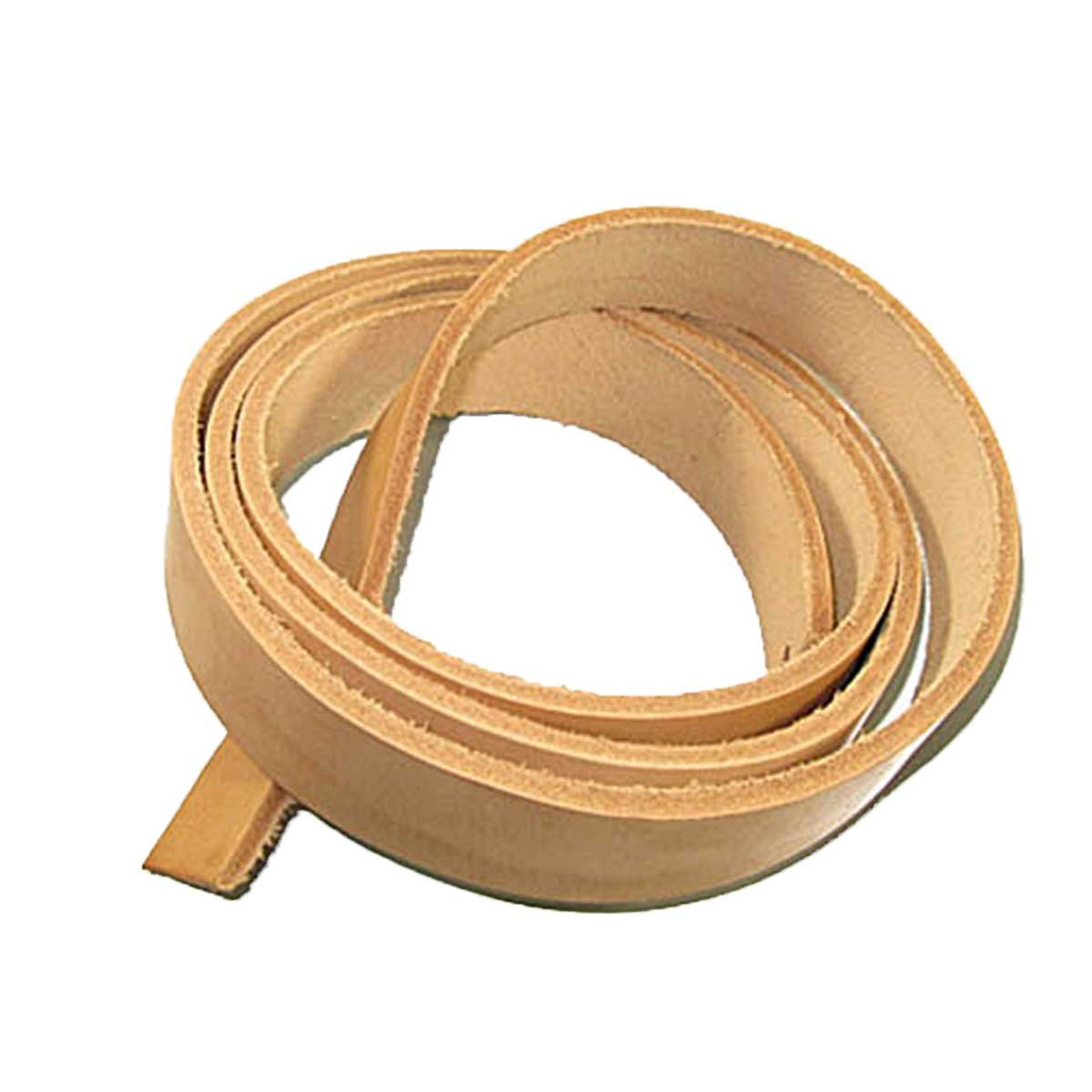 """9/10 oz Natural Vegetable Tanned Cowhide Leather Strip 72"""" - 3/4"""" (19mm)"""