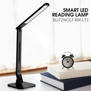 BlitzWolf®  BW-LT1S  New Eye Protection Smart LED Desk Lamp Light Foldable Dimmable 1.5A USB Charging Black BW-LT1 US Plug