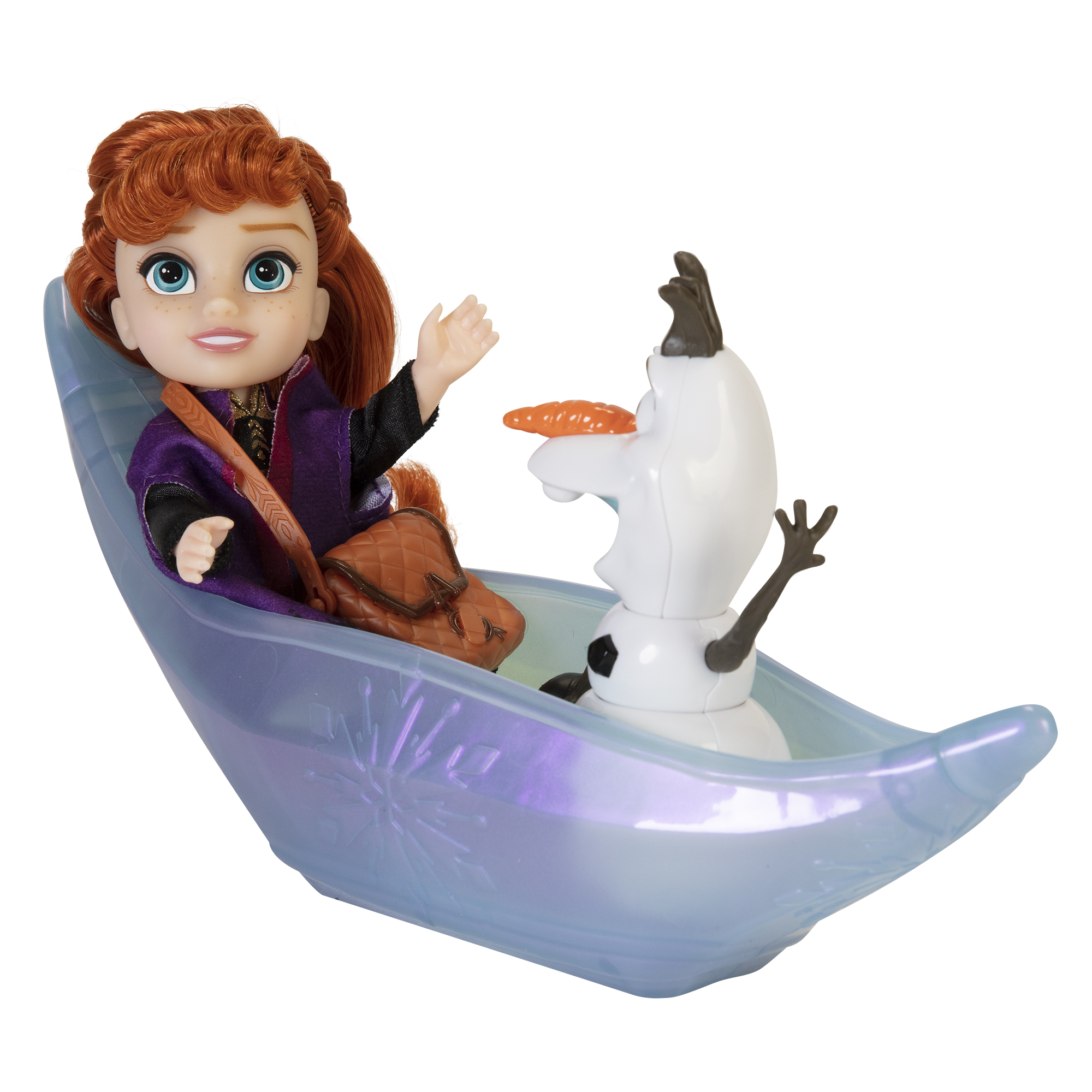 Disney Frozen 2 Petite Princess Anna and Ice Canoe Dolls Gift Set