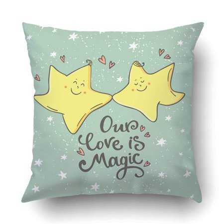 RYLABLUE romantic with cute cartoon star Romantic quote for love valentines day Pillowcase Throw Pillow Cover Case 20x20 inches - image 2 of 2