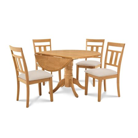 M&D Furniture BUWE5-OAK-C Burlington 5 Piece small kitchen table set-kitchen table and 4 dining chairs in Oak finish ()