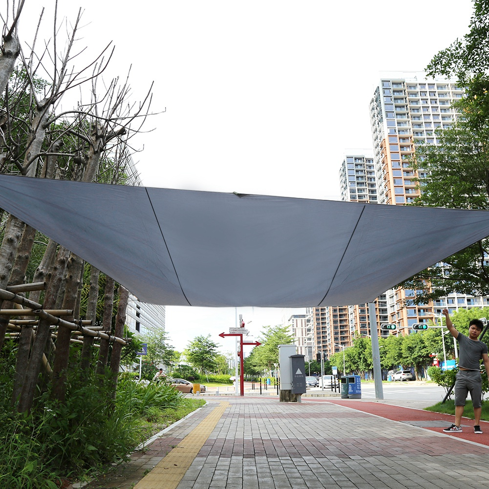 Ashata Sand Sun Shade Sail Sunscreen Rectangle Polyester Awning Canopy Outdoor Garden Patio 4.5*5m,Canopy, Garden Canopy