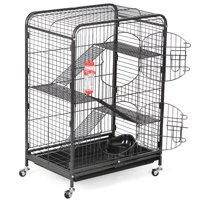 """Topeakmart 37"""" Ferret and Small Animal Cage, Black"""