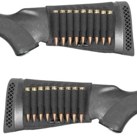 Ultimate Arms Gear 18 Round Rifle Ammo Shot Shell Cartridge Stock Buttstock Slip Over Carrier Holder Fits  243  25 06  270  30 06 7 62 63Mm  308 7Mm 08 Rem Savage Axis 99 Models Ambidextrous Rifle