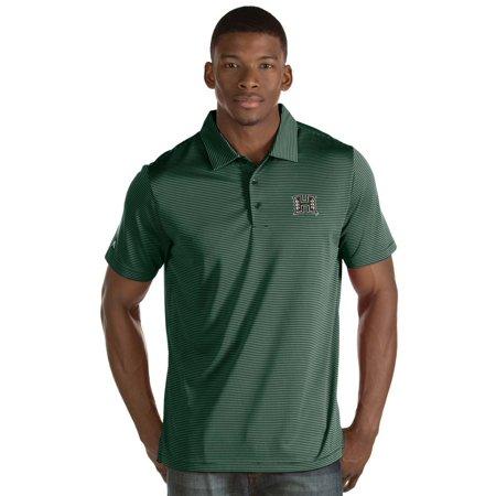 - Hawaii Warriors Antigua Quest Stripe Jersey Polo - Green
