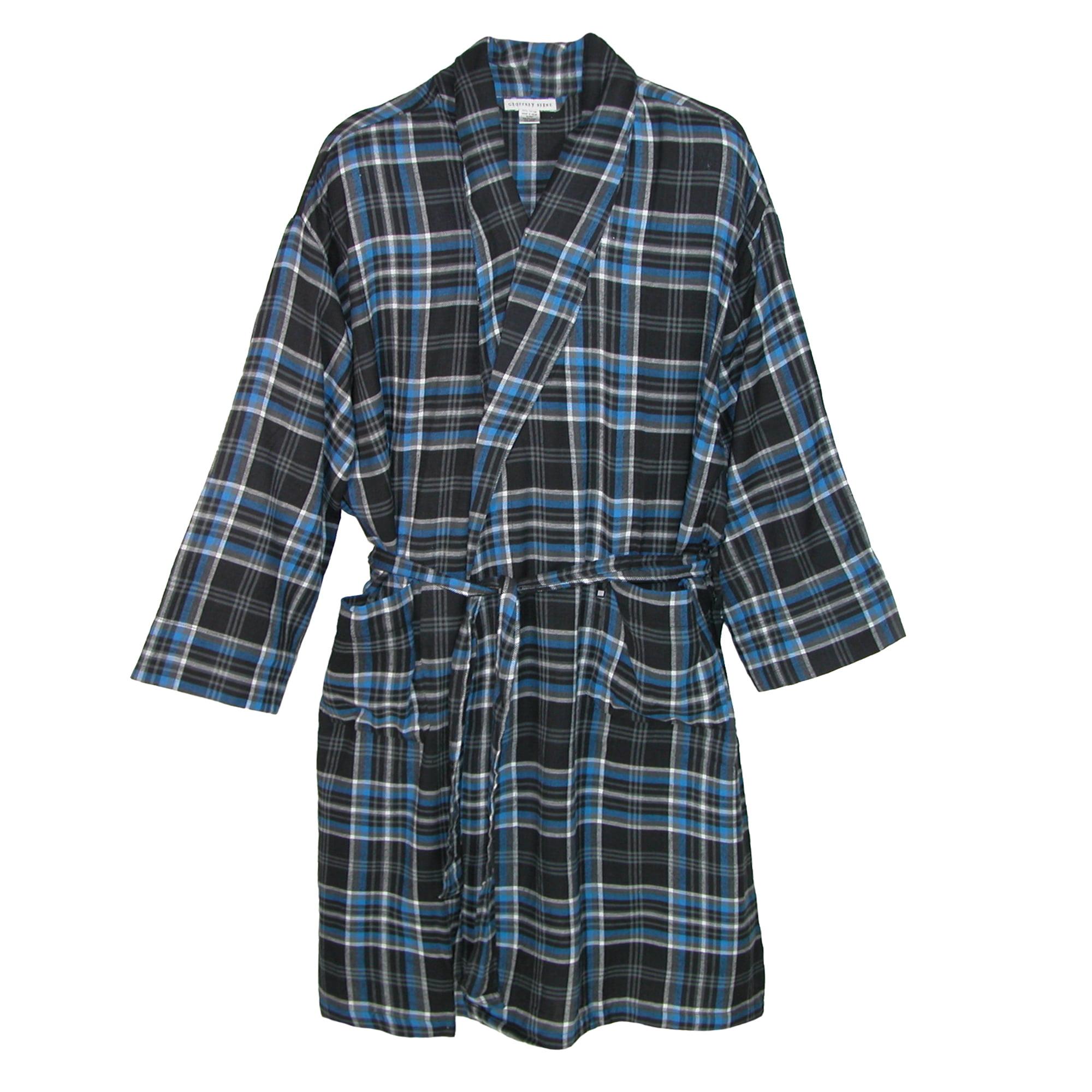 Geoffrey Beene Men's Big and Tall Flannel Robe