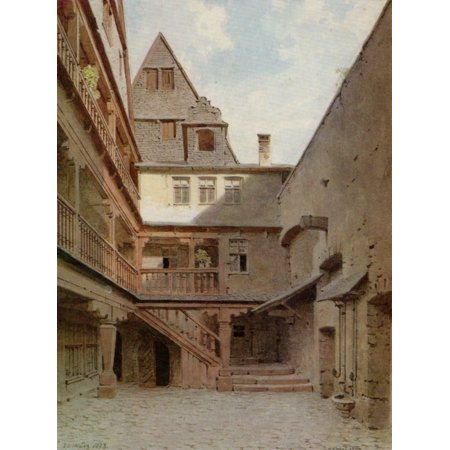 Canvas Print Reiffenstein, Carl Theodor - Frankfurt, Graal (Alte Mainzer  Gasse 15) Stretched Canvas 10 x 14