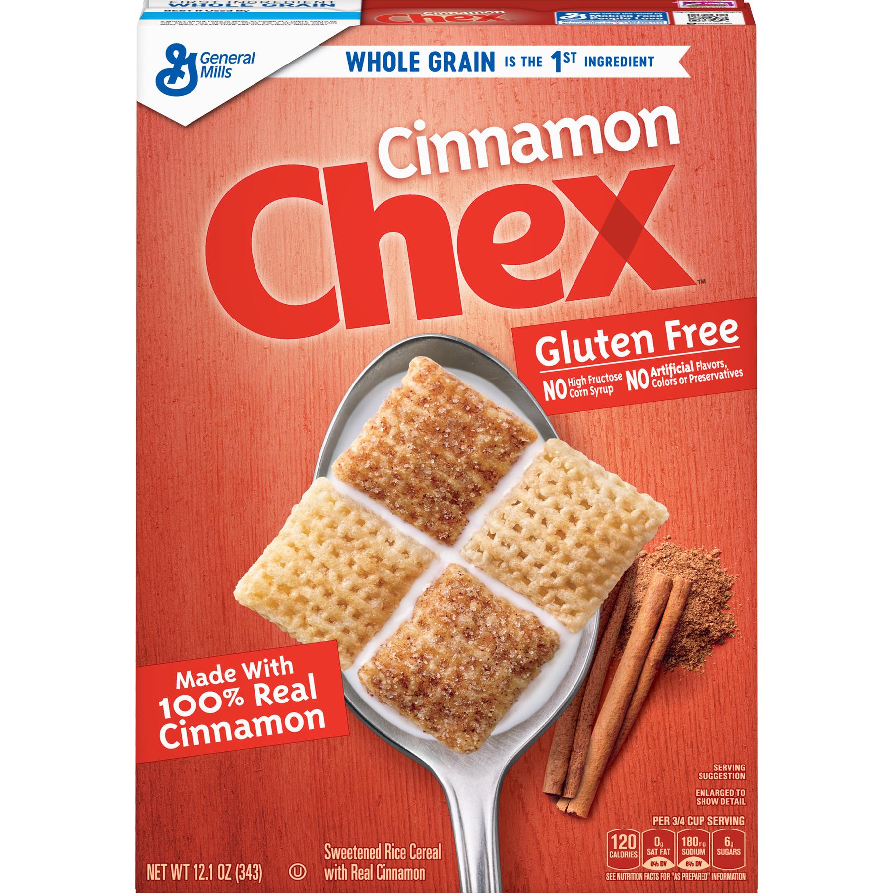 Cinnamon Chex Cereal, Gluten Free Cereal, 12.1 oz