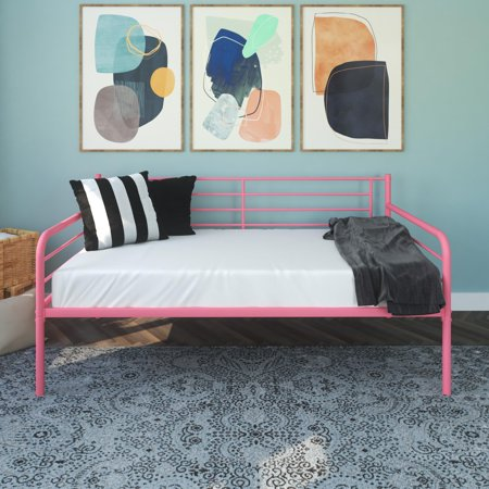 DHP Metal Daybed, Twin, Pink ()