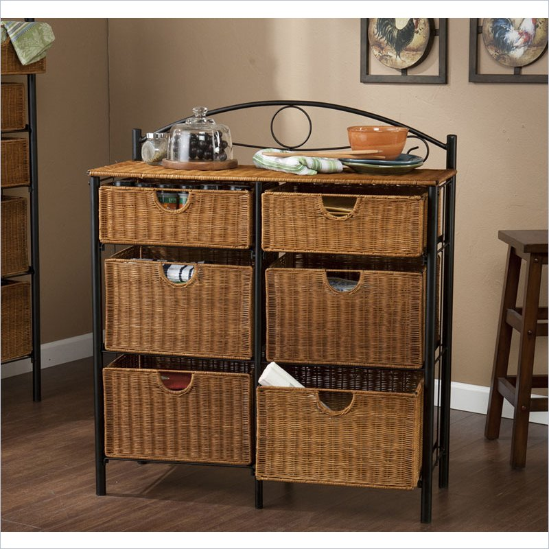 Holly & Martin Lillian Iron/Wicker Storage Chest in Paint...