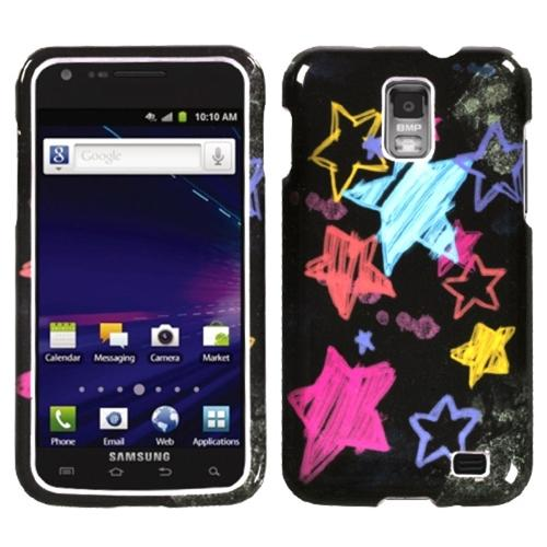 Insten Chalkboard Star Black Phone Case for SAMSUNG: i727 (Galaxy S II Skyrocket)
